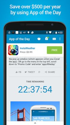 App of the Day - 100% Free v3.9.1   App of the Day - 100% Free v3.9.1Requirements:2.3Overview: Every day get a new deal on an app which has been made 100% free  Join our community of over five million users and get the full version of one of the top rated apps in the Android Play Store (at least 4 stars) for absolutely free! Save over $500 every year using App of the Day!   Get free apps daily with App of the Day a free app downloader that unlocks all of the premium features for you!  Get…