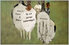 Stamped Silverware Wind Chime