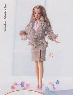 Barbie : costume printanier au crochet