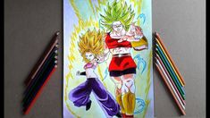 Dibujando a CAULIFLA y KALE(Dragon Ball Super)/Speed Draw Caulifla & Kale