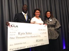 The Quad County African American Chamber of Commerce held its 6th Annual Jazz Brunch  at the Hotel Arista in Naperville, IL on Feb. 8, 2014. Ms. Kyra Tetter (center) was one of the scholarship recipients.