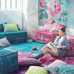Belgium-based designer Charlotte Lancelot has designed the Canevas Collection of rugs and designs floor design interior design decorating decorating before and after Deco Boheme, Blog Deco, Deco Design, Home And Deco, Cross Stitching, Design Inspiration, Design Ideas, House Design, Floor Design