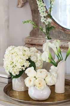 French Flowers, Beautiful Flowers, Victoria Magazine, Dining Decor, Winter House, Simply Beautiful, Flower Power, Peonies, Floral Arrangements