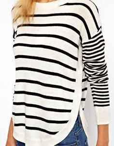 I love the sleeves and the button sides on this sweater. Great drape, too.