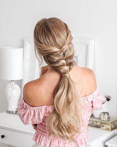 @missysueblog Two Dutch Braids, Dutch Fishtail Braid, French Braid Ponytail, Double Dutch Braid, Side French Braids, Twist Braids, Mohawk Ponytail, Down Hairstyles, Braided Hairstyles