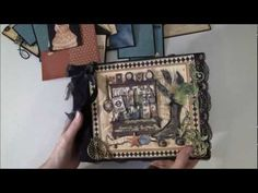 Graphic 45 Olde Curiosity Shoppe mini album - tutorial