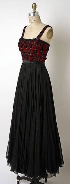 Galanos silk and glass gown, 1952