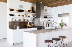 Zero Cost Ways to Make Your Open Kitchen Shelves Look Better - Image credit: Nicole LaMotte