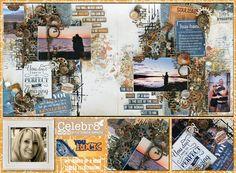 Celebr8 You Rock You Rock, Travel Scrapbook, Scrapbooking Ideas, Mixed Media, Collections, Beach, Water, Art, Art Background
