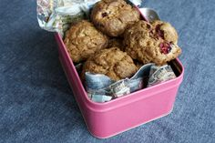 Haferflocken-Cranberries-Kekse mit Cranberries aus der Migros via @loeffelchen