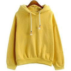 Catamaran Womens Harajuku Yellow Color Long Sleeve Loose Hoodies... (76 PLN) ❤ liked on Polyvore featuring tops, hoodies, sweatshirts, long sleeve hoodie, beige hoodie, yellow top, yellow hooded sweatshirt and sweatshirt hoodies