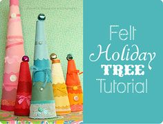 felt holiday trees from Danielle Thompson