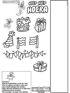 Verjaardag - Kroontje - Knutselpagina.nl - knutselen, knutselen en nog eens knutselen.
