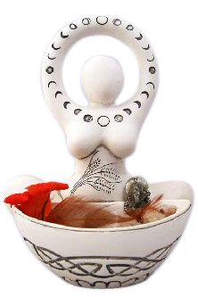 Goddess of the Moon & Grains Offering Bowl - Mabon pagan wiccan witchcraft magick ritual supplies