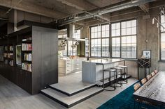Historic flour mill converted to industrial style loft in Denver
