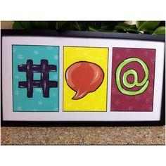 Social media art #Huify #TeamHuify Social Media Art, Medium Art, Ava, Nerd, Logos, Birthday, Artwork, Crafts, Inspiration