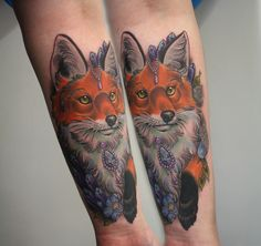 #Fox #tattoo I did on the lovely Josie! For bookings or enquiries email georginatattoo@gmail.com