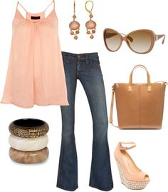 """Peachy Keen"" by romigr99 on Polyvore"