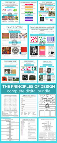 elements and principles of design poster by colin schoeneman via