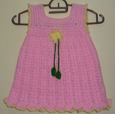 crochet baby dress pattern for one year to two year old kids