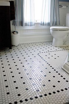 87 best black and white tile patterns for vintage bath images rh pinterest com mosaic bathroom floor tiles melbourne mosaic wet room floor tiles