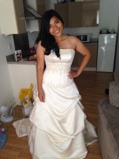 Wedding gown £50 Hair and make up £30  And all done! Got married!