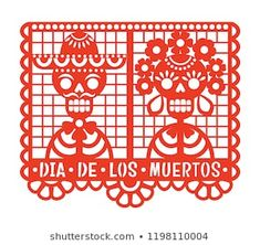 Vector Illustration Of Traditional Paper Cutting With Day The Dead Papel Picado Template Free Mexico Day Of The Dead, Paper Cutting Templates, Diy And Crafts, Paper Crafts, Manualidades Halloween, Cricut Tutorials, Bird Drawings, En Stock, Free Vector Art