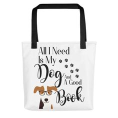 #DogLover #Booklover Tote Bag #BookishGifts WritersRelief.com