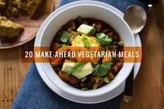 Make-Ahead Vegetarian Meals Prepare these make-ahead vegetarian meals when you have time and heat them up when you're ready for dinner!Prepare these make-ahead vegetarian meals when you have time and heat them up when you're ready for dinner! Healthy Recipes, Veg Recipes, Slow Cooker Recipes, Crockpot Recipes, Cooking Recipes, Pasta Recipes, Healthy Snacks, Dinner Recipes, Vegetarian Cooking