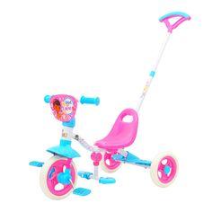 30cm Doc Mcstuffins Padded Bike With Parent Handle Toys