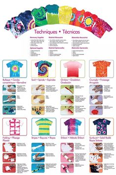 Tulip Tie-Dye Party Kit is perfect for sizzling up summer camps, fun at family reunions, backyard bashes and more. Tye Dye, Fête Tie Dye, Tulip Tie Dye, Tie Dye Party, Bleach Tie Dye, How To Tie Dye, Bleach Pen, Diy Tie Dye Kit, Tie Dye Steps