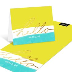 These cheerful personalized note cards will make somebody's day when they arrive in the mail.
