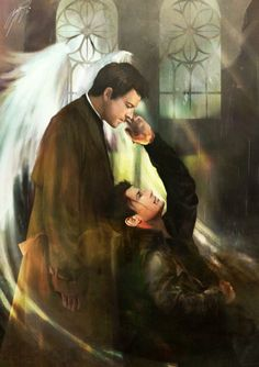 Cas and Dean by Gikun