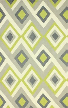 Rugs USA Radiante BC62 Green Rug, 100% Polyester, Hand Hooked, Contemporary, summer, home design, home decor, DIY.