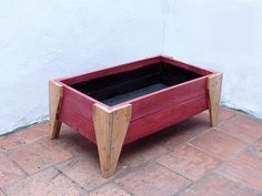 Diy Wood Planter Box, Wood Pallet Planters, Wood Pallet Furniture, Planter Boxes, Wood Pallets, Diy Pallet Projects, Woodworking Projects, Peter Wood, Pallet Wall Art