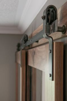 Barn Door Hardware -- bypass doors on a single rail. This would work to replace the closet doors once we Barn Door Hardware -- bypass doors on a single rail. This would work to replace the closet doors once we have the murphy bed installed.