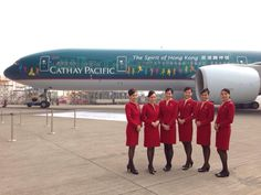 """Cathay Pacific Airways Boeing 777-367/ER B-KPB in special """"The Spirit of Hong Kong"""" livery."""