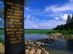 Itasca Minnesota - Mississippi Headwaters.