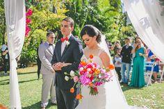 Casamento Colorido e Vibrante ao Ar Livre – Thayane & Renan   Lápis de Noiva