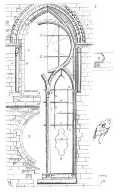 Meneaux fenetre Notre Dame Paris 2