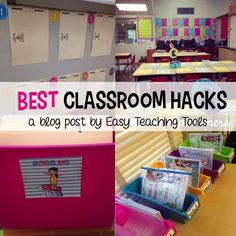 I love clever tricks to help with management and organization. Anything to make my life easier! I want to share some of my classroom hacks that you can use tomorrow in your classroom.