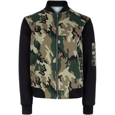 New Look Teens Green Camo Print Colour Block Bomber Jacket (€22) ❤ liked on Polyvore featuring outerwear, jackets, tops, blusas, coats, green pattern, green jacket, camoflauge jacket, print bomber jacket and colorblock bomber jacket