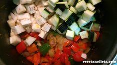 PISTO DE VERDURAS - Recetas a dieta Feta, Salsa, Mexican, Cheese, Ethnic Recipes, Entrees, Healthy Recipes, Deserts, Salsa Music