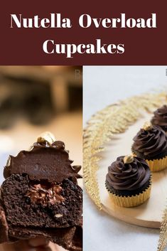 Ultimate Nutella Overload Cupcakes is moist with a creamy Nutella frosting.Learn to make nutella cupcakes or Mocha Nutella Cupcakes. Nutella Brownies, Nutella Frosting, Nutella Cupcakes, Fancy Cupcakes, Cupcake Frosting, Best Nutella Recipes, Best Dessert Recipes, Brownie Recipes, Cupcake Recipes