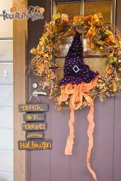 Halloween door   halloween ovi kranssi