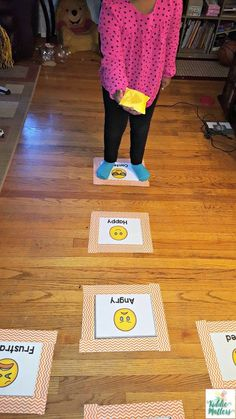 Help kids identify feelings while practicing gross motor skills with these fun, . - Help kids identify feelings while practicing gross motor skills with these fun, . Help kids identify feelings while practicing gross motor skills wi. Emotions Game, Feelings Games, Teaching Emotions, Feelings Activities, Gross Motor Activities, Gross Motor Skills, Feelings And Emotions, Kindergarten Activities, Learning Activities