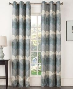 """Sun Zero Deco Thermal Lined Curtain 40"""" x 63"""" Panel - Curtains & Drapes - Macy's"""