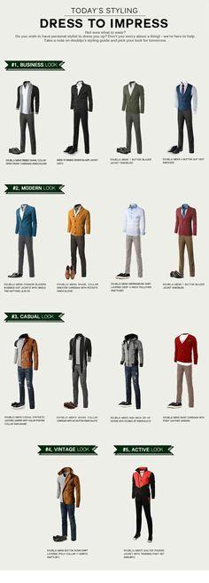 Dress to Impres #MensFashion #Dapper, selon son style vestimentaire, conseils en image
