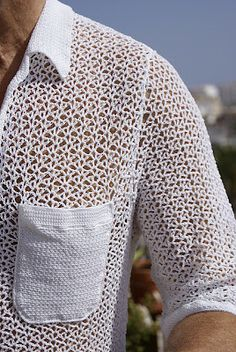 crochet knit unlimited: What to crochet for men? (Not this! But it would make a nice ladies blouse to go over a tank.)