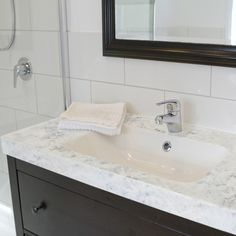 Easy & affordable DIY countertop makeover kit!  Transform your existing countertops to look like marble.